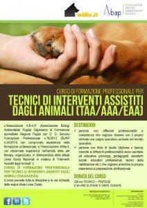 Locandina_TECNICI DI INTERVENTI ASSISTITI DAGLI ANIMALI 2016_