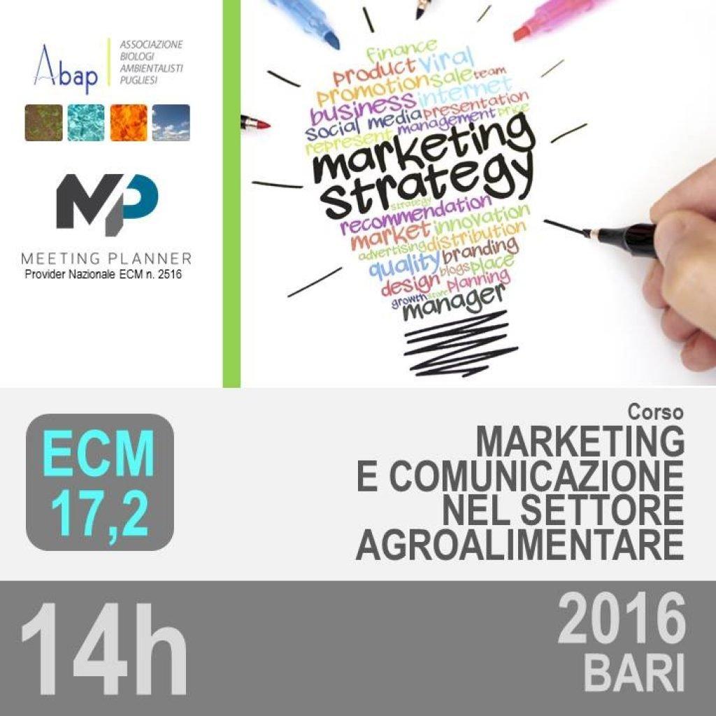 Cover MARKETING E COMUNICAZIONE SETTORE AGROALIMENTARE 2016