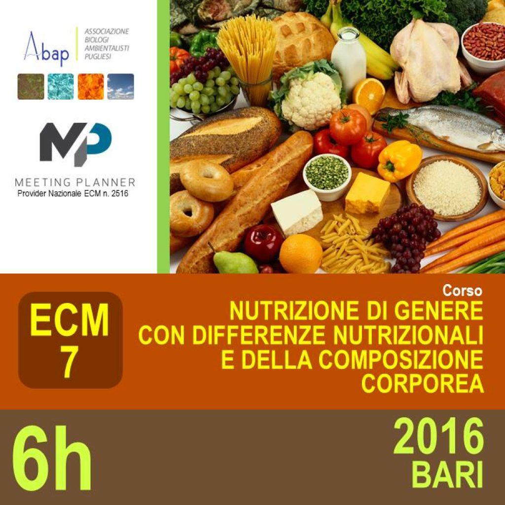 Cover NUTRIZIONE DI GENERE 2016